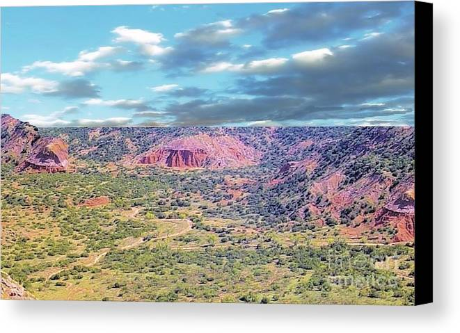 Palo Duro Canyon Canvas Print featuring the photograph Palo Duro Canyon by Janette Boyd