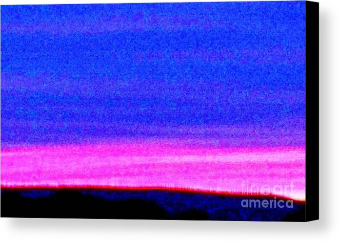 Abstract Canvas Print featuring the photograph Abstract Landscape by Eric Schiabor