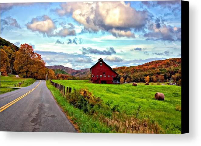 West Virginia Canvas Print featuring the photograph Ah...west Virginia Painted by Steve Harrington