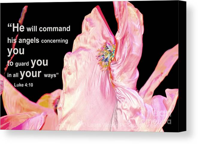 Angels Canvas Print featuring the photograph Angels Will Guard You by Artist and Photographer Laura Wrede