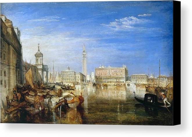 1833 Canvas Print featuring the painting Bridge Of Sighs by JMW Turner