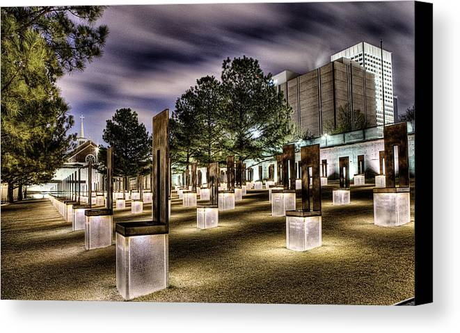 Okc Canvas Print featuring the photograph Chairs Of Light by Tom Parash