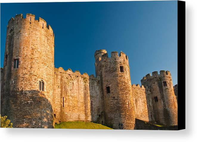 Conwy Canvas Print featuring the photograph Conwy Castle by David Ross