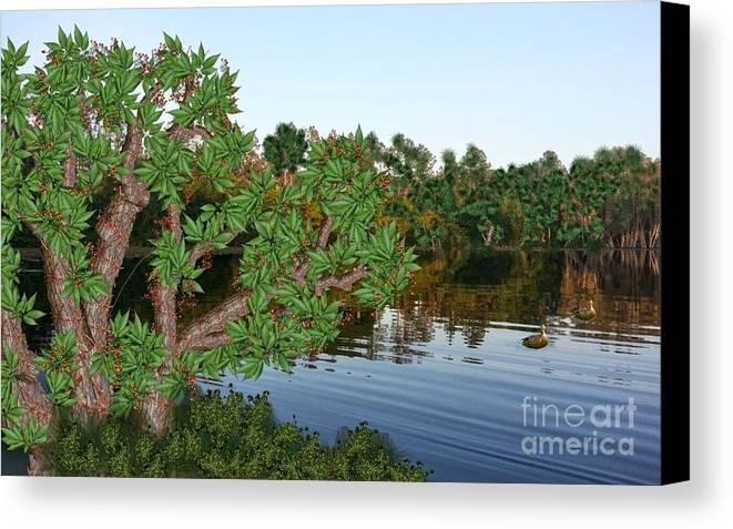 Water Canvas Print featuring the digital art Cool Waters by Gil Howard-Browne