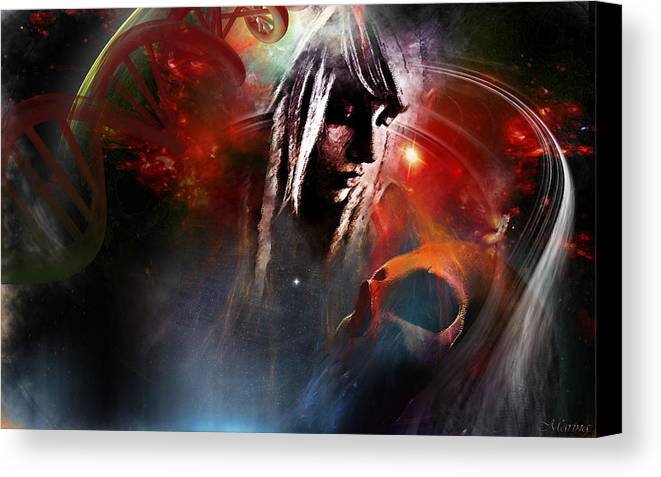 Abstract Canvas Print featuring the digital art Death And Life by Marina Vergult