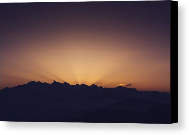 Landscape Canvas Print featuring the photograph Dusk by Abhishek Solanki