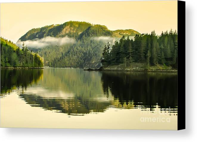 Reflections Canvas Print featuring the photograph Early Morning Reflections by Robert Bales