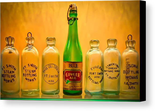 Bottles Canvas Print featuring the photograph Empties by James Barber
