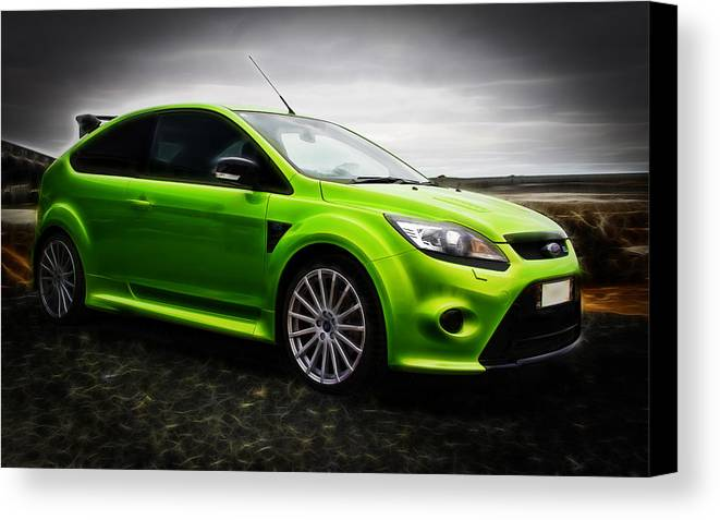 Ford Rs Canvas Print featuring the photograph Ford Focus Rs by motography aka Phil Clark