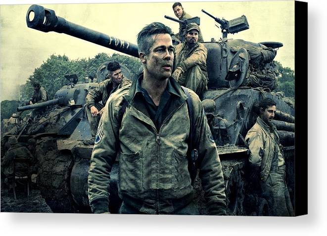 Fury Canvas Print featuring the photograph Fury by Movie Poster Prints