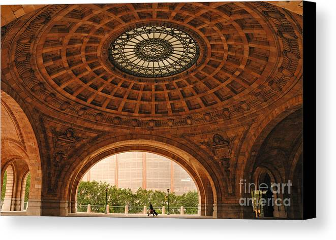 Apartment Canvas Print featuring the photograph Grand Rotunda Pennsylvanian Pittsburgh by Amy Cicconi