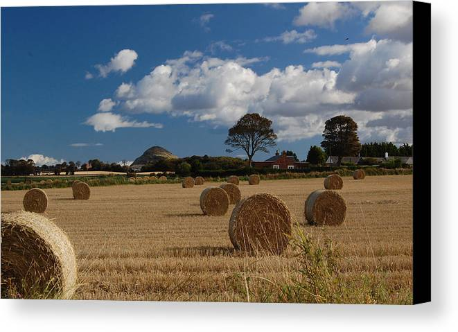 Hay Canvas Print featuring the photograph Hay Bales by John Bailey