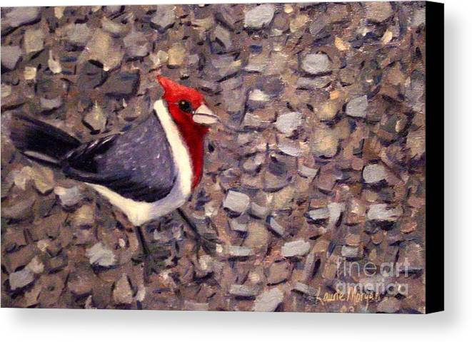 Bird Canvas Print featuring the painting Home Turf by Laurie Morgan