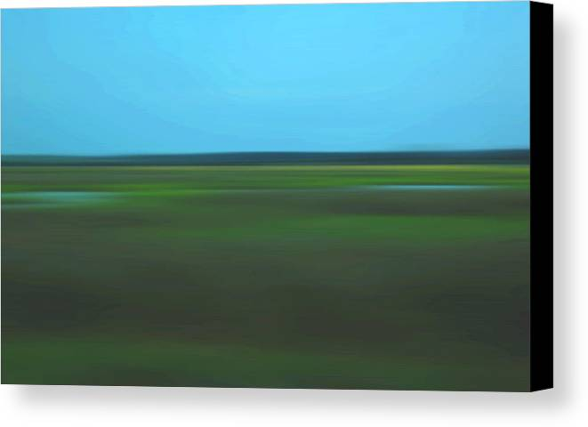 Abstract Canvas Print featuring the photograph Marsh Blur by Suzanne Gaff