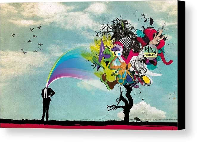 Abstract Canvas Print featuring the digital art Mind Outburst by Gianfranco Weiss