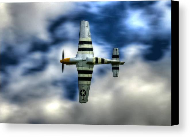 P51 Mustang Canvas Print featuring the photograph P51d Mustang Ferocious Frankie by Phil 'motography' Clark