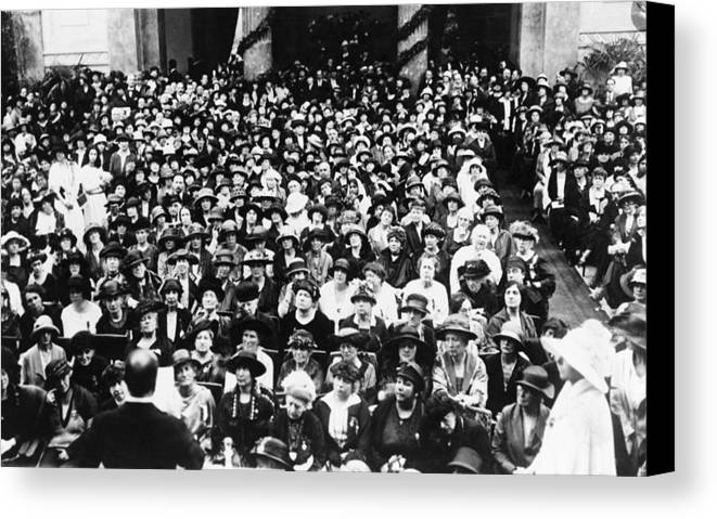 History Canvas Print featuring the photograph Premier Benito Mussolini Of Italy Back by Everett