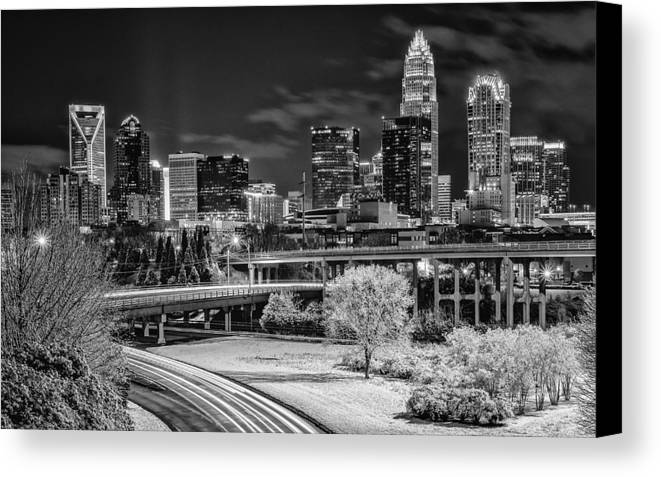 Charlotte Canvas Print featuring the photograph Snowy South by Brian Young