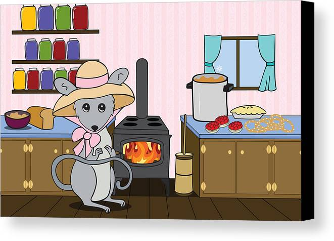 Kitchen Canvas Print featuring the digital art Tatty's Kitchen by Christy Beckwith