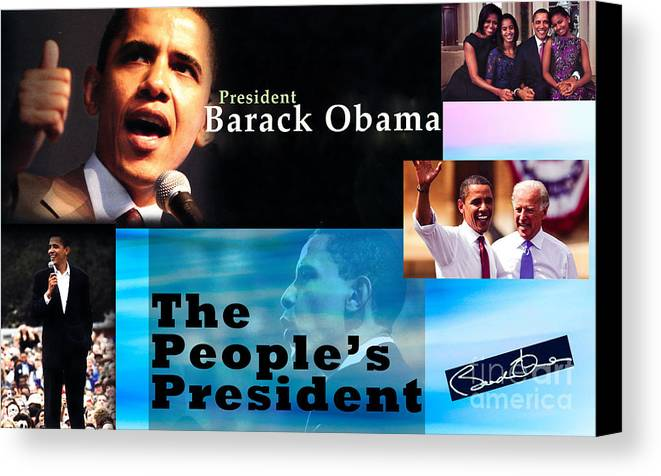 President Canvas Print featuring the photograph The People's President Still by Terry Wallace