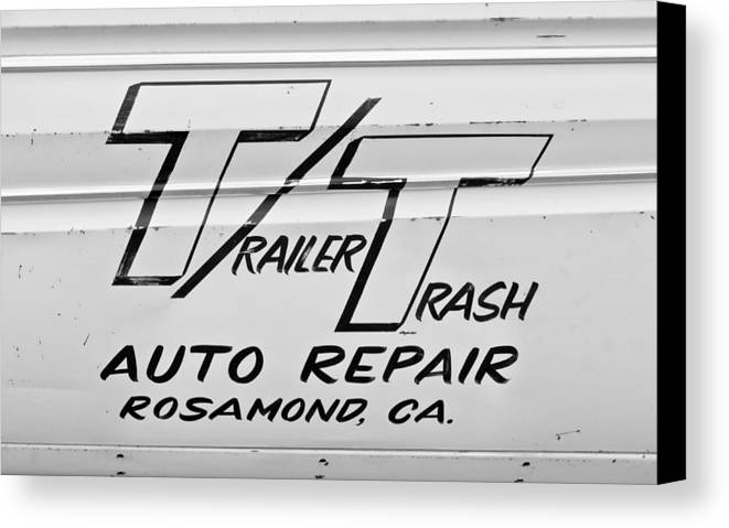 Auto Repair Canvas Print featuring the photograph Trailer Trash by Phil 'motography' Clark