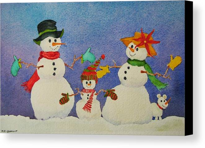 Winter Canvas Print featuring the painting Tres Chic by Mary Ellen Mueller Legault
