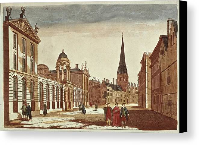 Horizontal Canvas Print featuring the photograph University Of Oxford. College by Everett