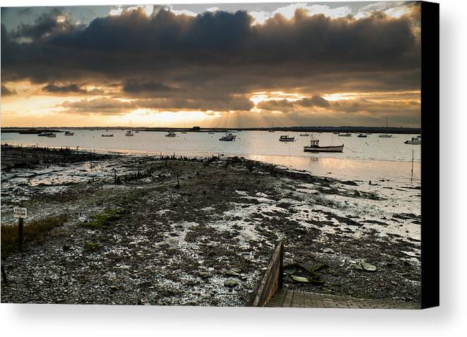 Boats Canvas Print featuring the photograph West Mersea View by David Isaacson