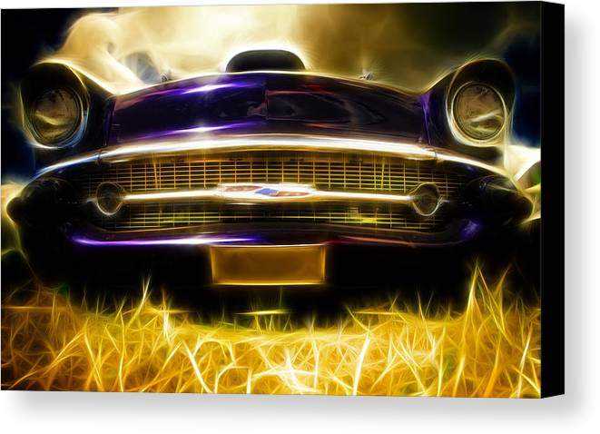 Chevrolet Canvas Print featuring the photograph 1957 Chevrolet Bel Air by Phil 'motography' Clark