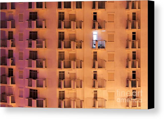 Apartment Canvas Print featuring the photograph Building Facade by Carlos Caetano