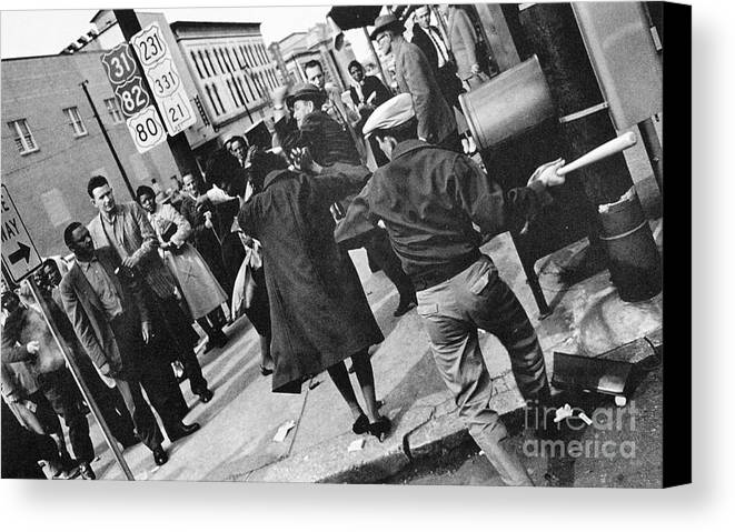 1960 Canvas Print featuring the photograph Civil Rights, 1960 by Granger