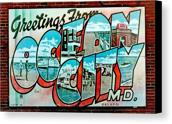 Fair Canvas Print featuring the photograph Greetings From Oc by Skip Willits