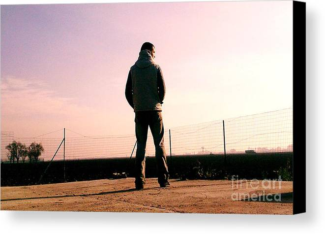 Canvas Print featuring the photograph In The Middle Of Nowhere by Richard Janosi