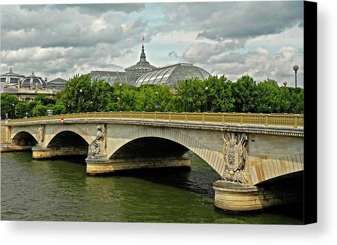 Petit Palace Canvas Print featuring the photograph Petit Palace Paris France by Dave Mills
