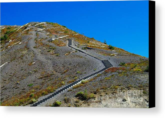 Stairs Canvas Print featuring the photograph Stairwell To Windy Point by Jeff Swan