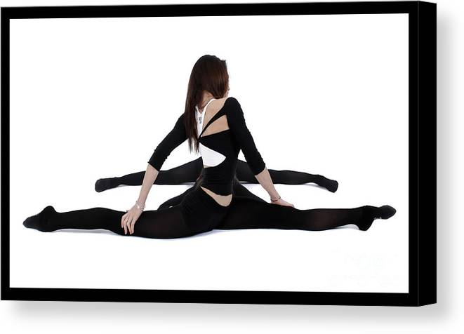 Gymnast Canvas Print featuring the photograph The Gymnast by Pierre-jean Grouille