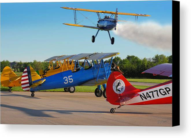 Photo Canvas Print featuring the photograph Waiting Their Turn by Rod Seel