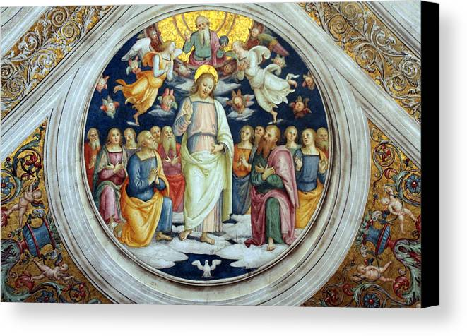 Jesus Canvas Print featuring the photograph Wall Painting by Munir Alawi