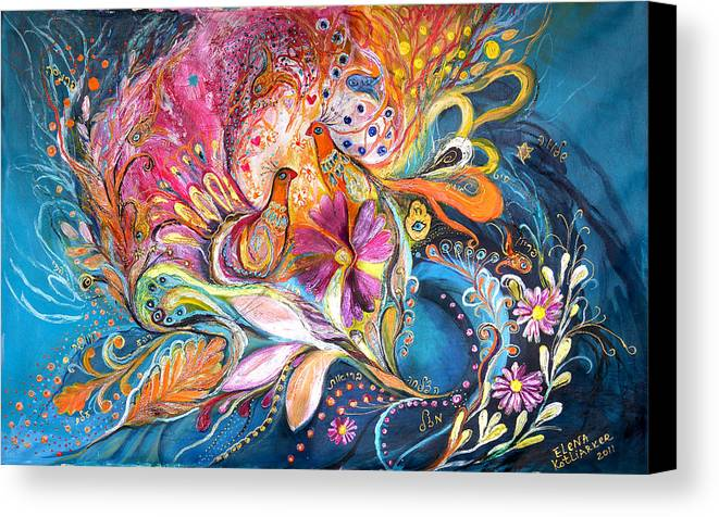 Original Canvas Print featuring the painting The Flowers Of Sea by Elena Kotliarker