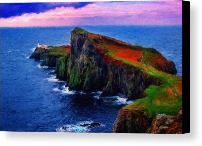 On Canvas Print featuring the digital art Original Landscape Paintings by Usa Map