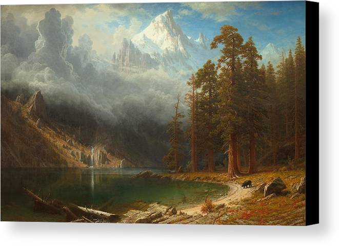 Painting Canvas Print featuring the painting Mount Corcoran by Mountain Dreams