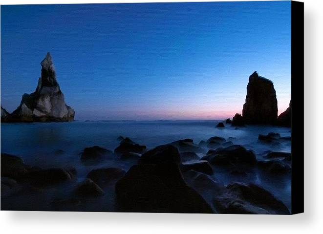 Landscape Canvas Print featuring the digital art Landscape Painting by Usa Map