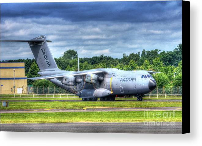 Airbus Canvas Print featuring the digital art A400m Airbus Prop Blur by Nigel Bangert