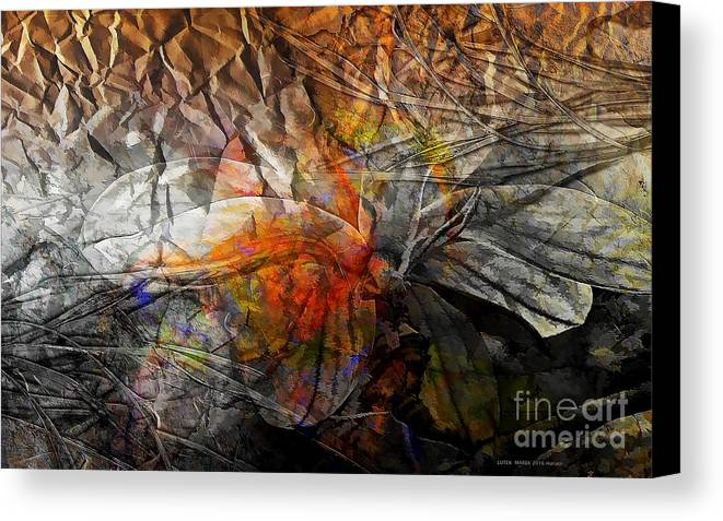 Abstraction Canvas Print featuring the digital art Abstraction 3415 by Marek Lutek
