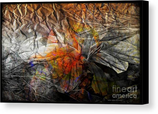 Abstraction Canvas Print featuring the digital art Abstraction 3416 by Marek Lutek