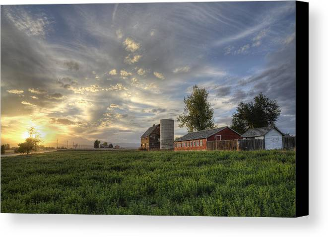 Canvas Print featuring the photograph Atmosphere And Alfalfa - Larimer County, Colorado by Bryan Harding