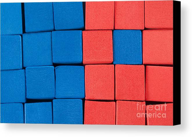 Blue Canvas Print featuring the photograph Blue And Orange by Dan Holm