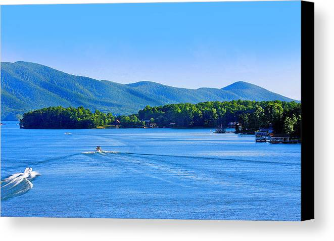 Boaters On Smith Mountain Lake Canvas Print Canvas Art