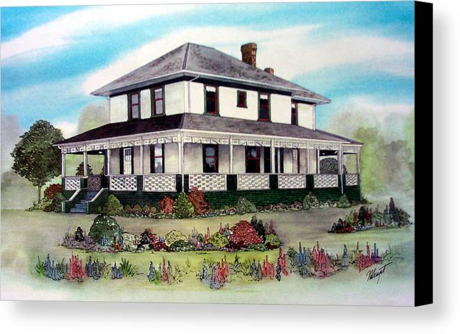 House Canvas Print featuring the painting Cammidge House by Victoria Heryet