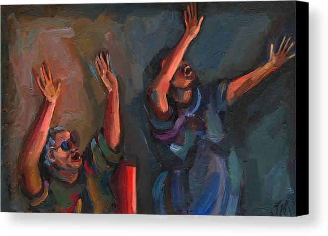 Spirit Filled Canvas Print featuring the painting Celebration by Jackie Merritt